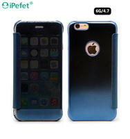 Wholesale High Quality brand name Clear view Mirror effect Flip phone case For iphone 6/S