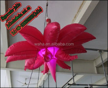 3m Customized Red inflatable flower for romantic wedding/party