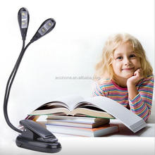 Flexible 2 Dual Arms Clip On 4 LED Music Stand Light Lamp for Music Piano Reading Camping Hiking