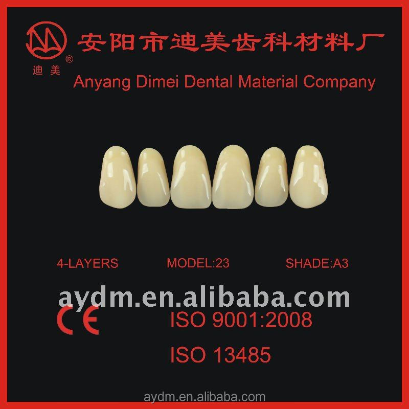 High quality,2015 hot sale 4-layer acrylic teeth artificial teeth denture material