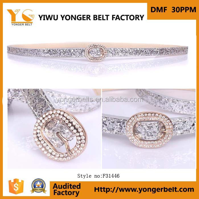 OEM High quality wholesale western rhinestone leather belts