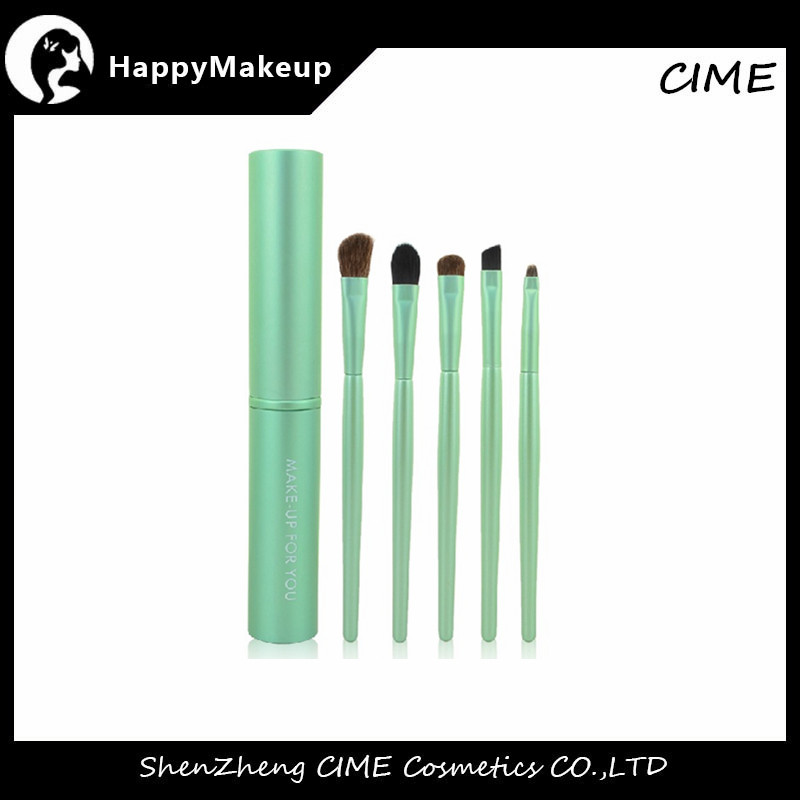 Wholesale High Quality Make Up Cosmetic 5pcs Pony Hair Rose Gold Makeup Brushes With Cylinder