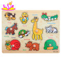 New hottest kids educational wooden animals jigsaw board with knobs W14M107