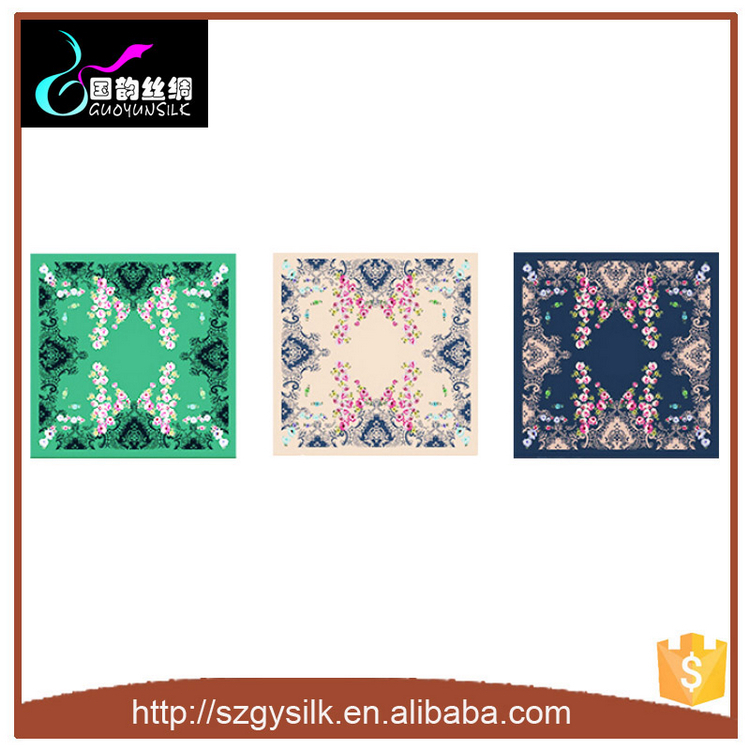 Fashion Large Square Scarves Women Silk Head Scarf 100*100cm