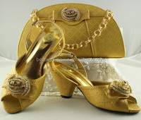 Wholesale price high quality italian ladies fashion matching shoes and bags MG0088