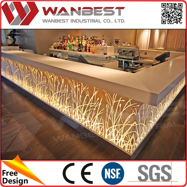 2016 Unique made Table Top Salad Bar for sale/ reception counter/shop counter design salad Table Top Salad Bar