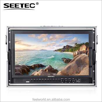 Seetec 17 inch widescreen lcd monitor with flight aluminum case for film