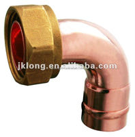 J9602 End feed Bent cylinder Union ( brass nut and copper elbow)