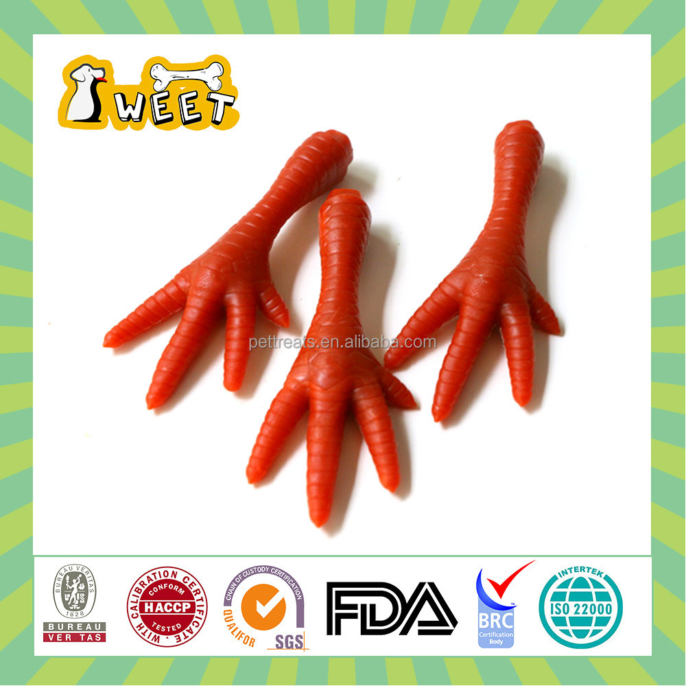 25g/piece Natural ingredients Pet Food Type Dog Treats Chews Chicken Foot Funny Shape Chew Stick