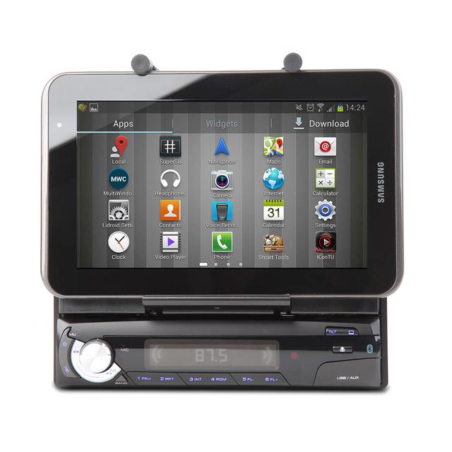EONON M1003 Motorized Car Stereo Radio Bluetooth 1DIN Holder for Smart Phone& Tablet
