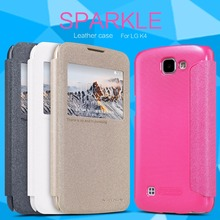 Nillkin Sparkle Flip Leather cover Mobile Phone case for LG K4