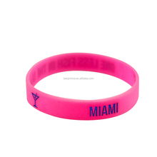 Pink color fancy wrist band rubber bands