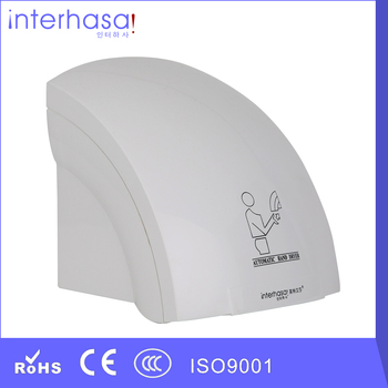 New Design Wall-mounted Mini Automatic Intelligent Hotel Toilet Hot/ Cold Wind Hand Dryer