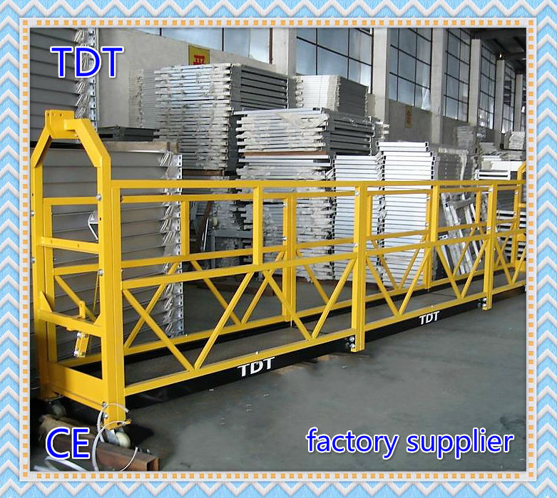 Zlp External Wall Painting Gondola / Construction Lifting Cradle / Suspended Scaffolding Platform