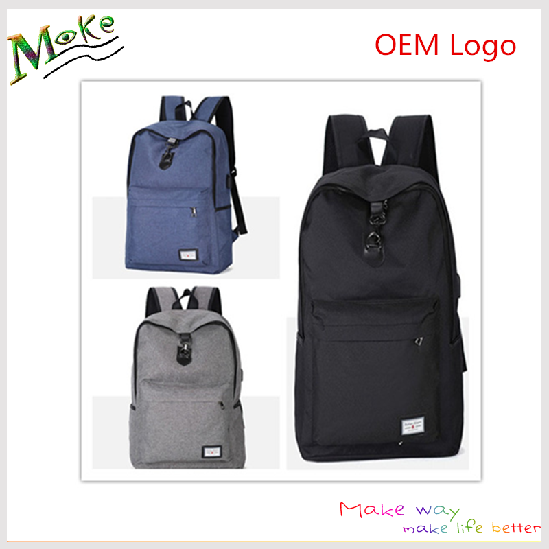 Wholesale canvas school backpack anti theft mens womens travel laptop backpack bag