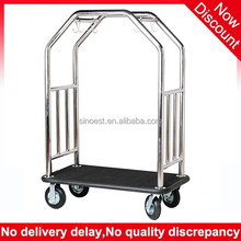 Hotel lobby furniture stainless steel bellman cart /concierge birdcage hotel luggage cart