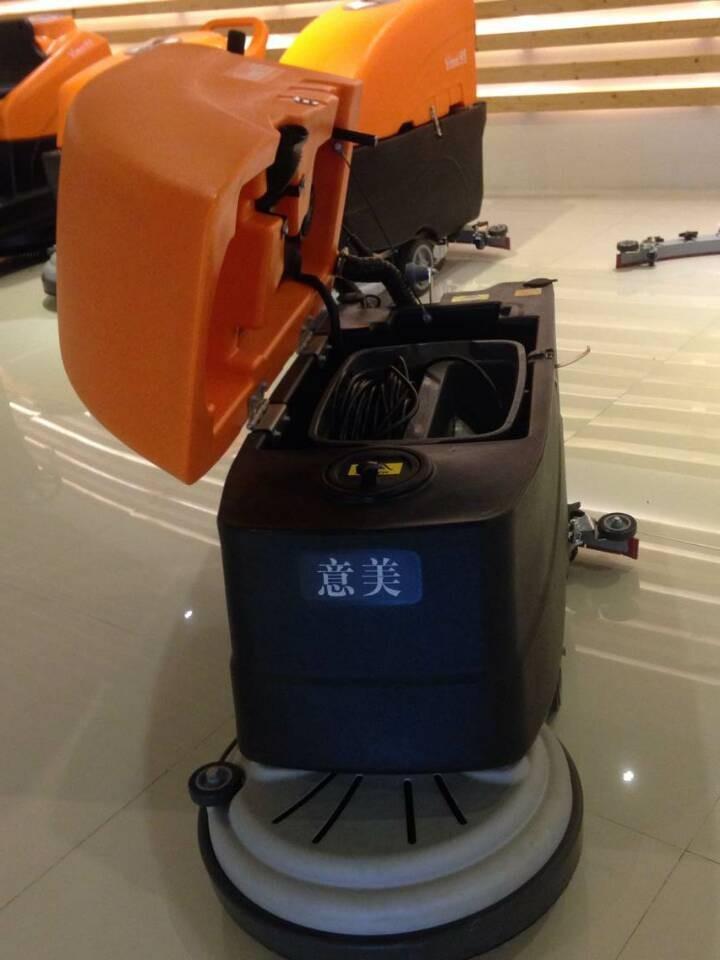 Push behind type floor scrubber dryer cleaning machine for Concrete floor scrubber