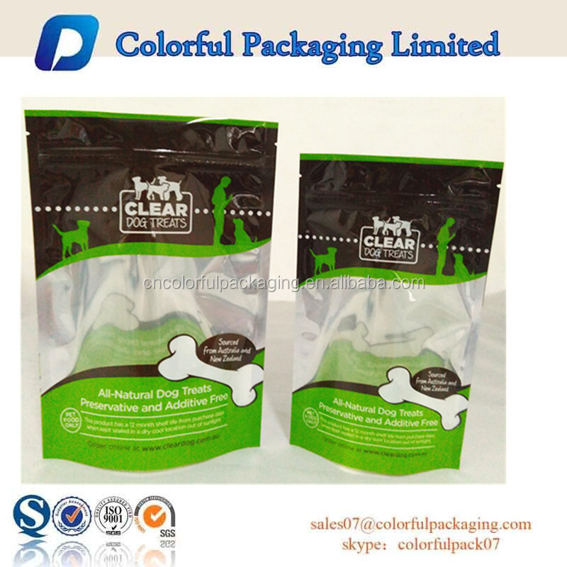 Colorful Packaging Limited plastic standing up pet food bags dog food bags