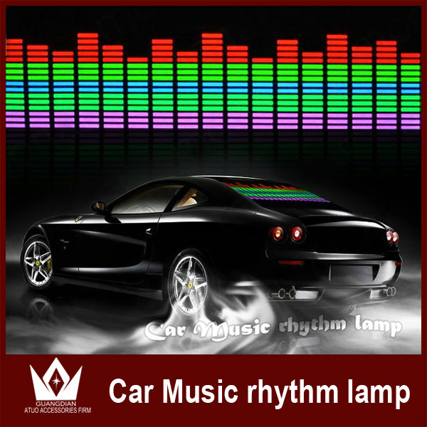 led flashing light music control stickers rear window