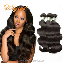 Wholesale price 100 natural body wave raw indian human hair from china factory