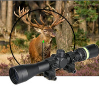 GZ1-0266 New Air soft Professional 3-9x40 Hunting Rifle Scope Mil-Dot illuminated Scope & Green Laser Sight Airsoft