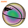 SURE Shiny Basketball And Reflective Effect Ball Custom Printed Glow Ball