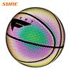 SURE Shiny Basketball And Reflective Effect Ball Custom Printed Glow Ball
