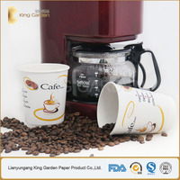 Triple paper double wall PE lined coffee hot cups for Cafe