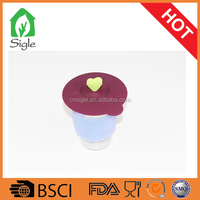 New Silicone Cup Lid coffee cup lod bowl cover with heart shape mug