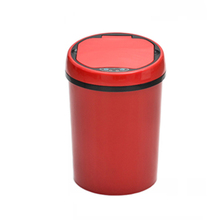 9L small size red color round pop up toy plastic auto car garbage can