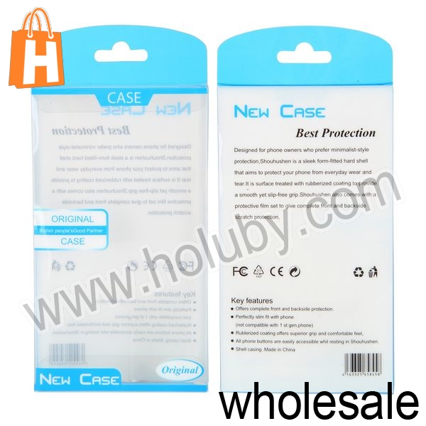 Cheap Wholesale Colorful 7.8x13.8x1.6cm Universal New Case Package Transparent PVC Cellphone Packing Box