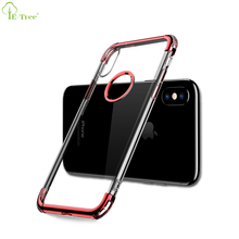 New Style Chrome Electroplate Airbag Shockproof Crystal Clear Plating Phone Case For iPhone X