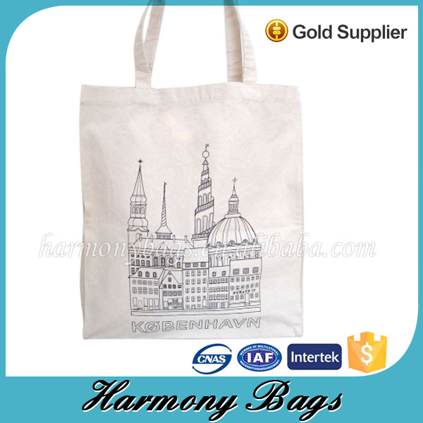 Professional customized reusable 100% cotton canvas tote bag