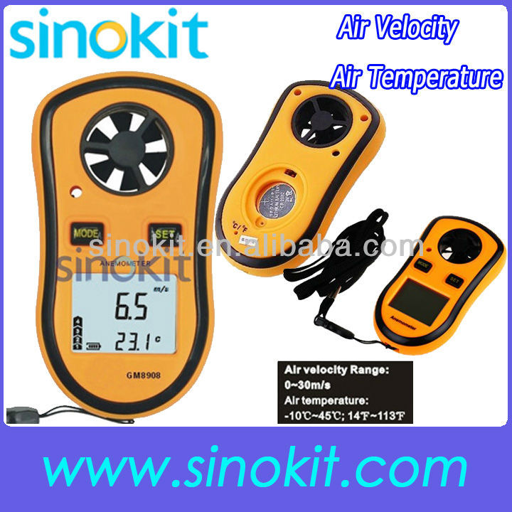 Wind Digital Portable Air velocity and Temperature Meter