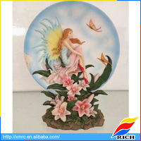Europe styled flower fairy angel wall plaque