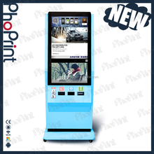 Smart Phone Mobile Photo Printing Kiosk With Cash Acceptor