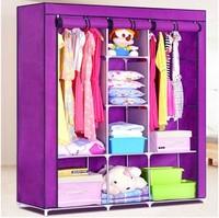 (FH-FW135172)High capacity big size portable fabric wardrobe folding DIY design for bedroom