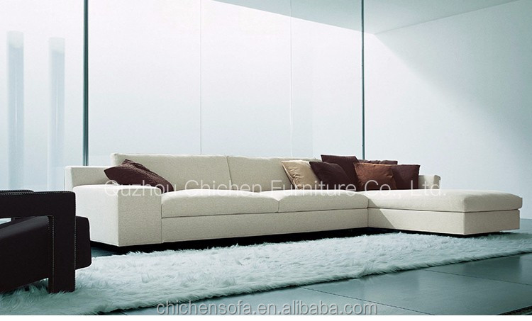 high quality luxury hotel fabric or leather sectional sofa