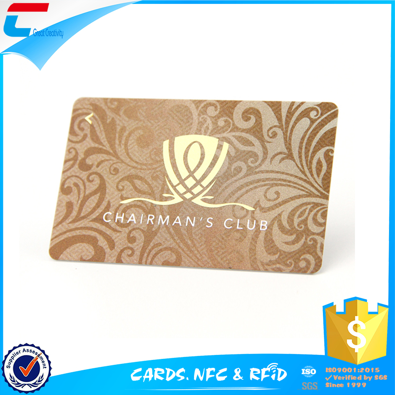Gold hot stamping pvc business card