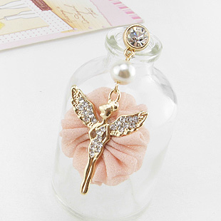 Korea jewelry wholesale S0295 crystal phone plugs anti dust plug for phones