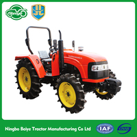 55HP 4WD mini wheel tractor harvesting machine for paddy