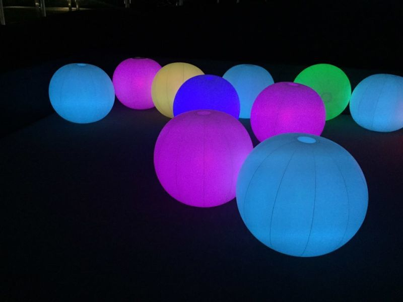 Inflatable LED Lighting Balloons, Lighted Outdoor Entertaiments Interactive Ball, Flashing Led light Up Balloons