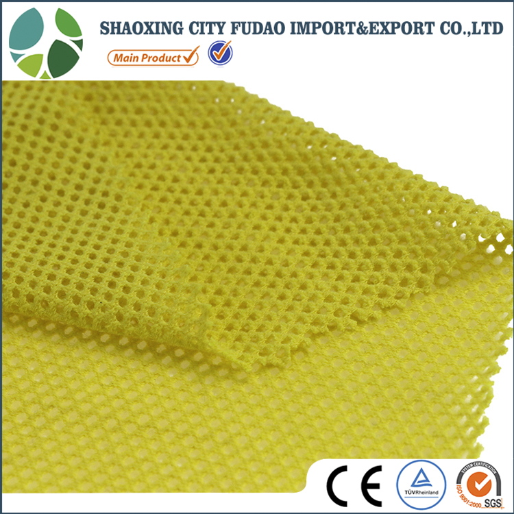Creative yellow color Cotton Polyester 3D air mesh fabric