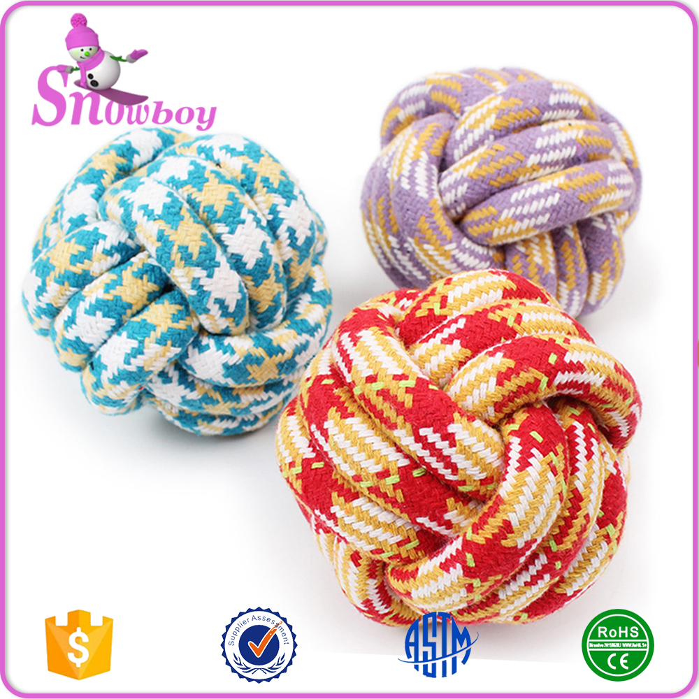 Hand Made Big Dog Soft Cotton Rope Ball Strengthen Teeth Pet Chew Toy Diameter 11cm