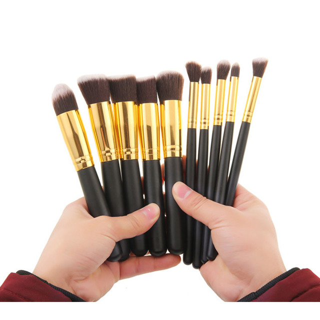 IN STOCK 10pcs Makeup Brushes Set Eyes Brush Kits Eyeshadow Foundation Kabuki Powder Beauty Blending Cosmetic Make Up Brush Tool