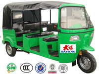 2016 china high quality beautiful Best 250cc bajaj passenger three wheel motorcycle tricycle tuk tk three wheeler with CCC