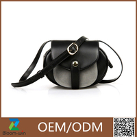 2016 small black crossbody bag,lovely and usefully PU leather bag