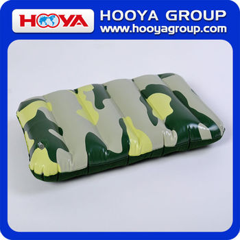 29*45CM Camouflage Inflatable Pillow/Inflatable Beach Pillow