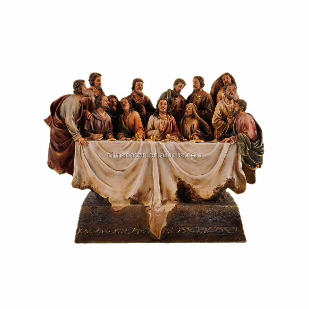 High table last supper statue for religious home decoration