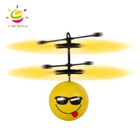 Yellow many shape Flying RC Ball with LED Flashing Light Mini Aircraft Helicopter